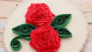 ORIGAMI QUILLING ROSE : : DIY PAPER CRAFTS