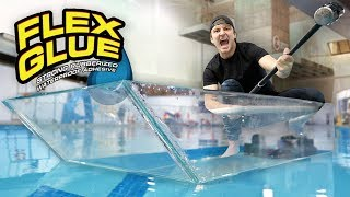 Download I Made An Entire Glass Boat With Flex Glue Clear!! Mp3 and Videos