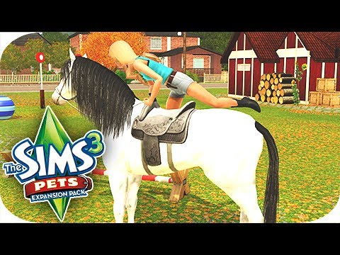 Let's Play: The Sims 3 Pets - Part 1 - Learning to Ride!