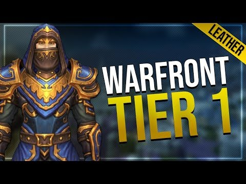 Warfront Tier 1 Leather Armor & Weapons   Alliance   Battle for Azeroth