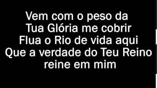 Vem com o peso da tua glória- Cristina Mel - playback legendado