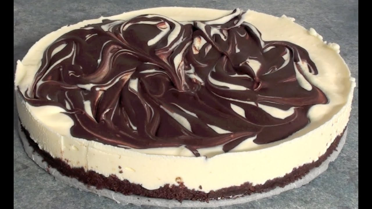 no bake chocolate swirl cheesecake recipe youtube