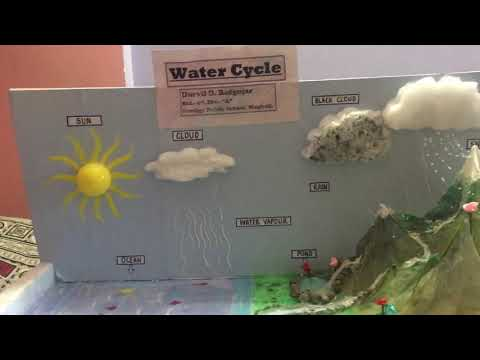 WATER CYCLE WORKING MODEL HOW TO MAKE (DURVIL)