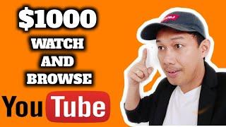Kumita Ng $1000 By Just Browsing And Watching YouTube Videos