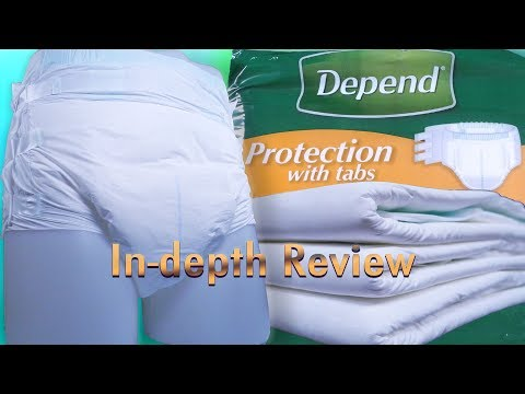 Depend® Protection With Tabs Adult Diaper In-Depth Review #incontinence #adultdiaper