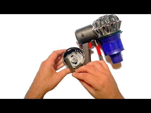 How to remove a Dyson cordless vacuum cleaner back cover (DC62)