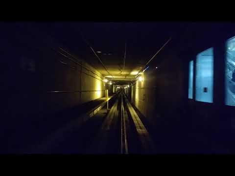 The Denver Airport subway train ride