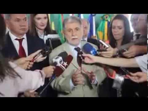 Ministro Amorim Fala após Reunião Bilateral Brasil-Rússia