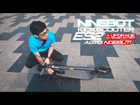BAWA SCOOTER LISTRIK NAIK MRT! | NINEBOT KICKSCOOTER ES2 INDONESIA