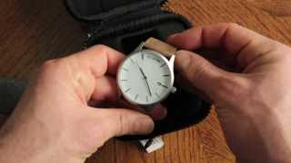 MVMT White Face / Tan Leather Watch Unboxing