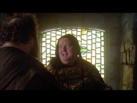 Robin Hood - Bishop thrown out of window.