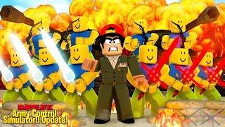 ROBLOX - ARMY CONTROL SIMULATOR, *NEW* ARCHER ARMY UPDATE!!