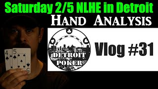 Running bad at 2/5 NLHE live in Detroit MI! Can we get unstuck? Detroit Poker Vlog #31