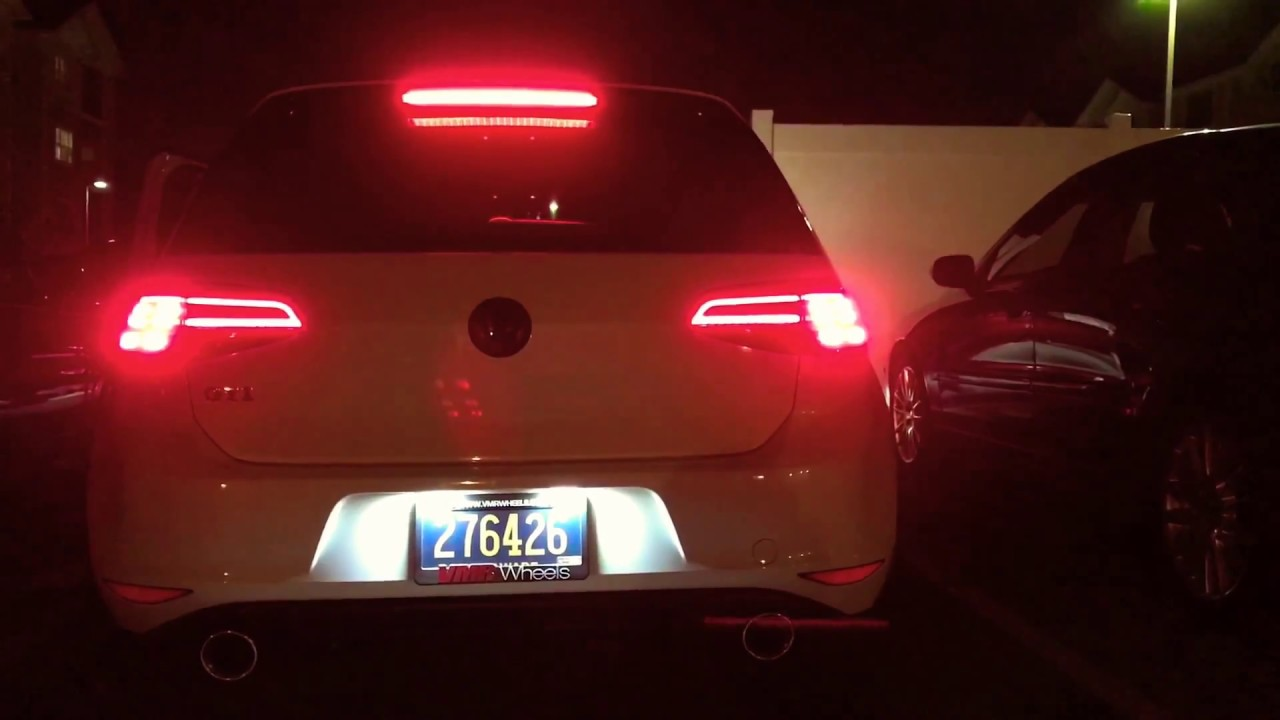 Vw Mk7 Gti With Facelift Tail Lights Mk7 5 Tail Lights