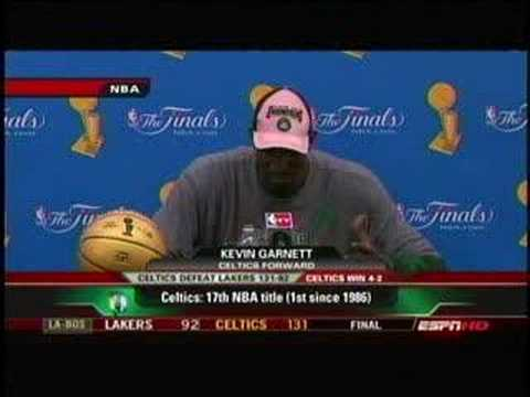 "Kevin Garnett - ""I Just Knocked the Bully Out"" (6.17.08)"