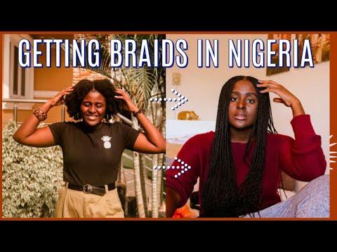 GETTING MY BRAIDS DONE IN NIGERIA | 4C NATURAL HAIR SALON EXPERIENCE