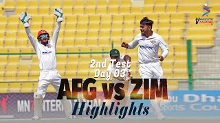 Afghanistan vs Zimbabwe Highlights | 2nd Test | Day 3 | Afghanistan vs Zimbabwe in UAE 2021