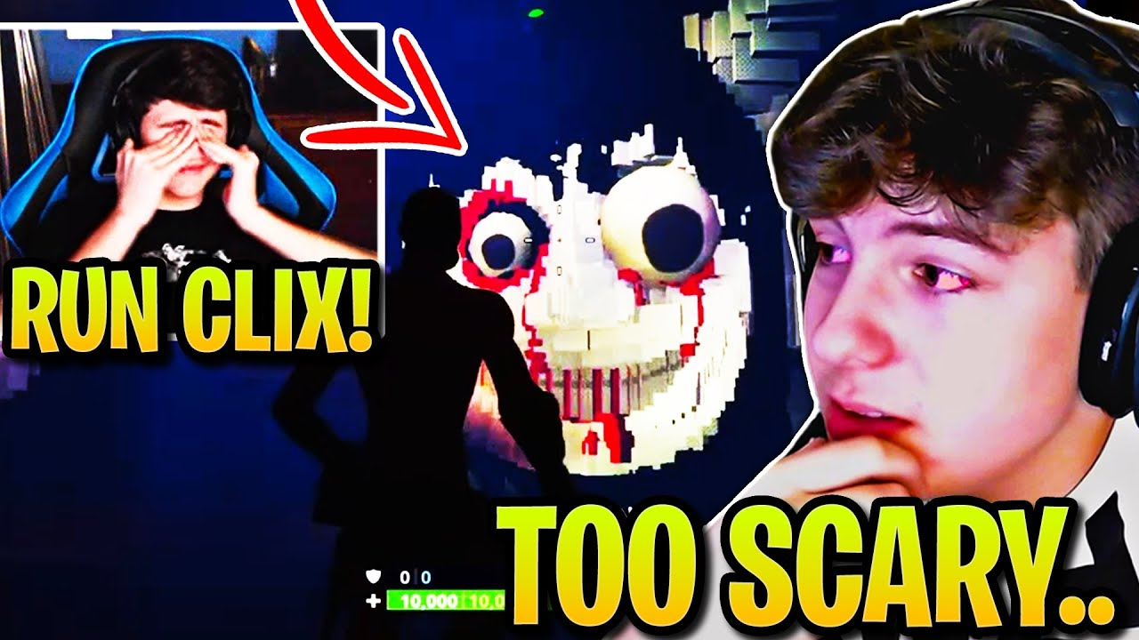 BUGHA & CLIX *TERRIFIED* Playing SCARY HORROR MAP! (Fortnite)