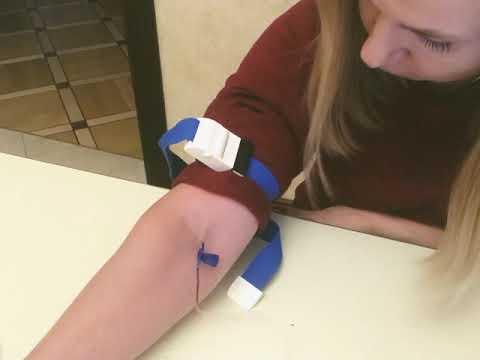 Как самому себе сделать внутривенный укол с помощью бабочки