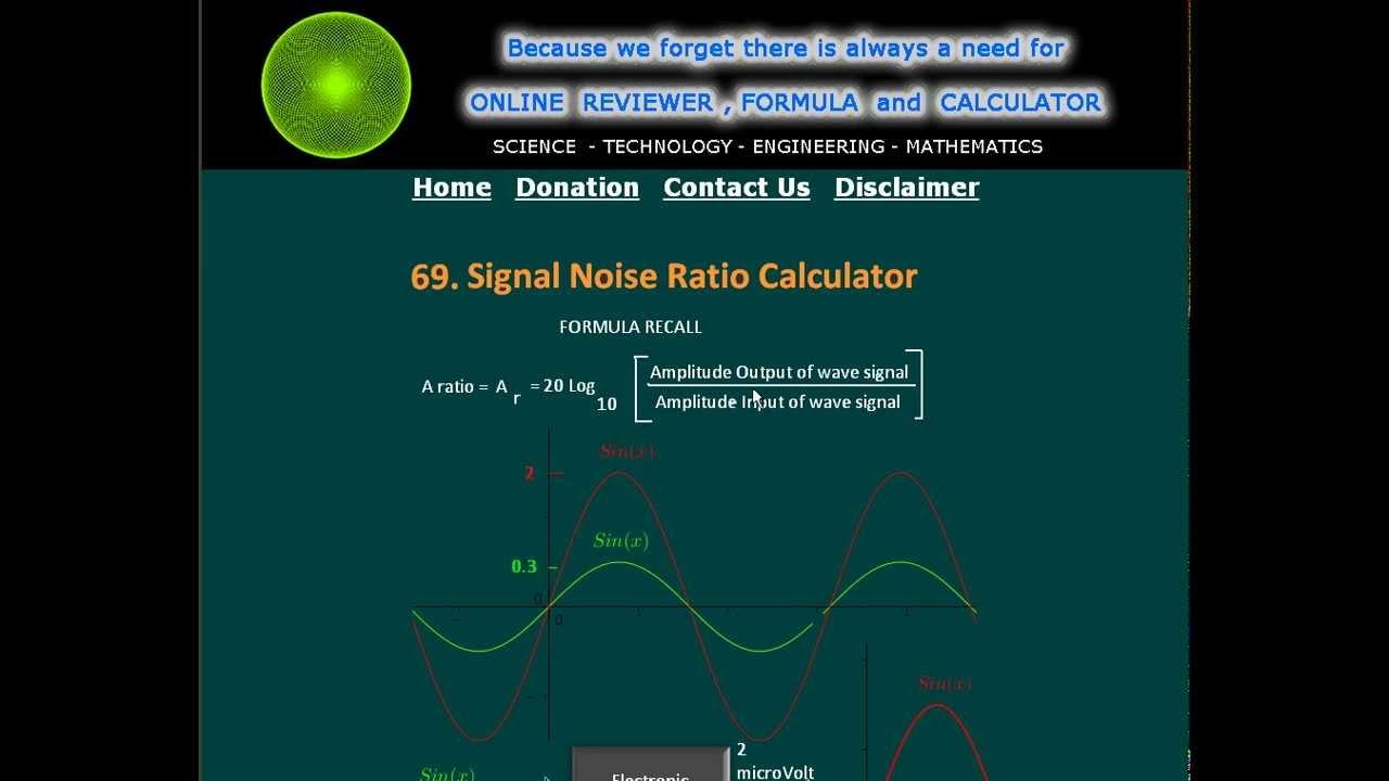Signal Noise Ratio Calculator