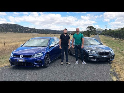 BMW M140i vs VW Golf R 7.5 with Car Advice Australia 2018 *Hot Hatch*