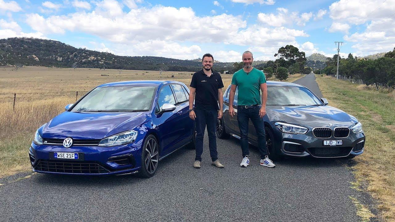 Vw Golf R 2018 >> BMW M140i vs VW Golf R 7.5 with Car Advice Australia 2018 *Hot Hatch* - YouTube