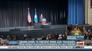 Obama vows to prevent more gun tragedies 12/17/2012