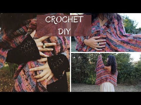 How to Crochet Fall Shawl Wrap