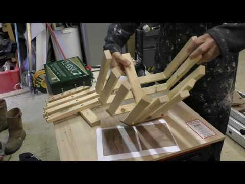 How to make a wooden Trug