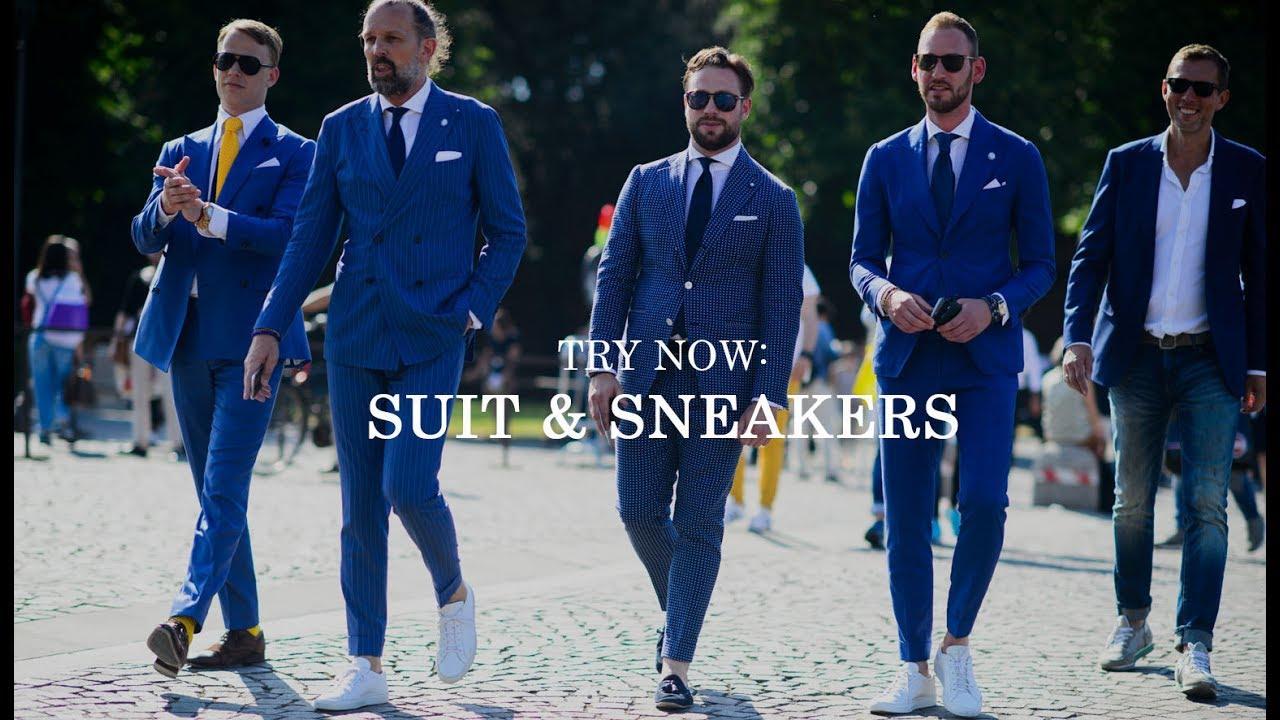 Men Style: Wear A Suit & Sneakers - YouTube