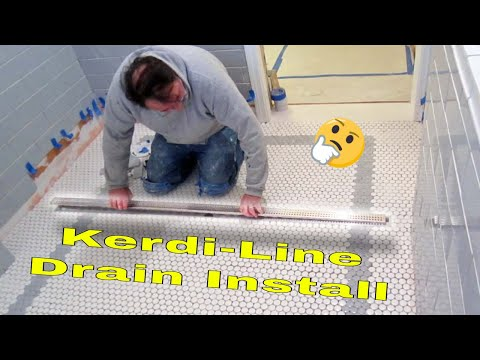 Complete bathroom Schluter systems products, Part 7 installing Kerdi-line Drain