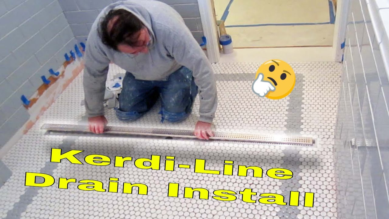 Complete bathroom Schluter systems products, Part 7 installing ...