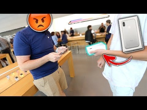 SELLING A FAKE iPhone X At Apple Store!