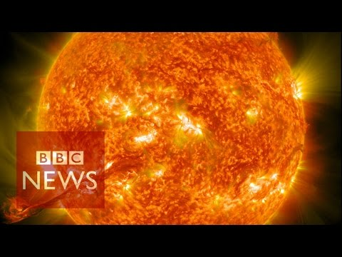 Nasa Captures Incredible 4k Images Of The Sun Bbc News