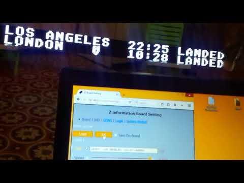 WiFi Led Information Board  like a split flat display.1