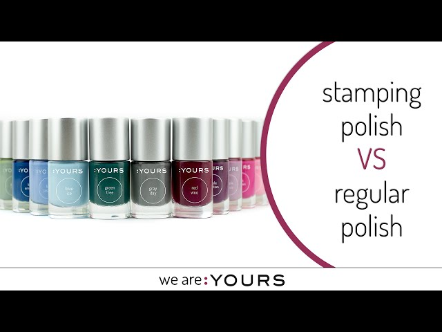 What's the difference between stamping polish and regular nail polish