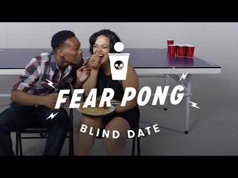 Blind Dates Play Fear Pong (Lance vs. Ella)   Fear Pong   Cut