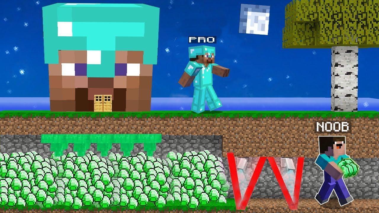 Minecraft NOOB vs PRO : NOOB STOLE SECRET TREASURE PRO! Challenge 100% trolling!