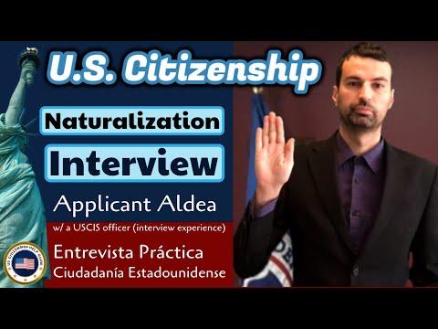 2020 U.S. Citizenship Mock Interview With Applicant Aldea (Entrevista De Ciudadanía Estadounidense)