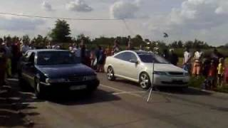 Vrbas 201m Street Race 2009: Opel Astra Coupe Turbo Vs. Saab 9000 Aero