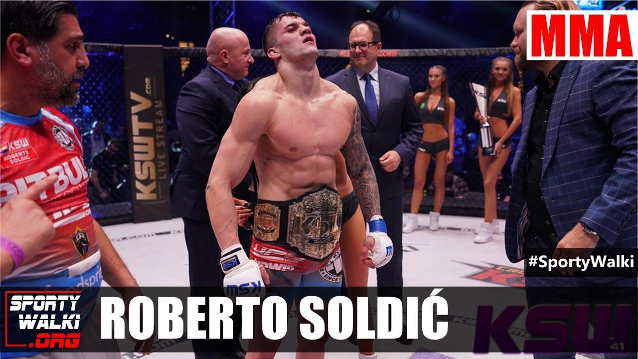 Roberto Soldić nowym mistrzem KSW
