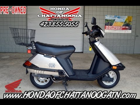 used honda elite 80 scooter for sale chattanooga tn ga al area scooter dealer youtube. Black Bedroom Furniture Sets. Home Design Ideas