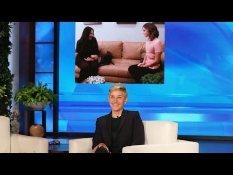 Ellen in Emma Watson's Ear