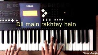 Mohabbat Tumse Nafrat Hai OST Piano Tutoial with Lyrics || Instrumental Cover