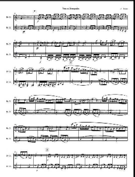 Tango for clarinet and bass clarinet duet