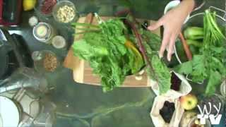 "Raw Food Recipe Demo-juiced Swiss Chard & Cilantro Soup- ""blythe Raw Live"""