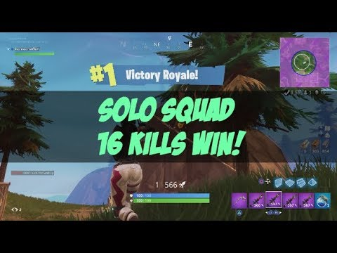 Solo Squad 16 Kills Win High Explosives Fortnite Br Full Game