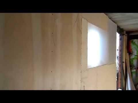 Зашита фанерой одна стена