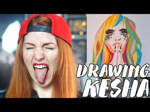 Drawing Kesha Praying in Rainbow Watercolor Paper // Rad Art with Beth Be Rad | SNARLED
