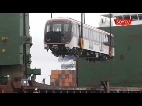 12 vagones nuevos de Metro de Santiago llegaron aplastados a Valparaíso